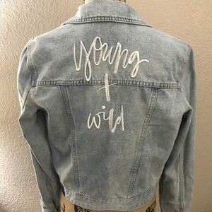 Young + Wild Jean Jacket • Size 8